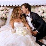 Eric decker Jessie Decker wedding image