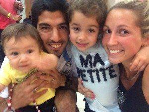 Luis Suarez Sofia Baldi children