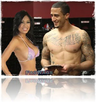 Colin Kaepernick girlfriend J Marie Maestre pic