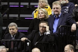 Larry Bird, Herb Simon, Davis Morway, Dinah Mattingly