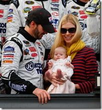 Jimmie Johnson wife Chandra daughter Genevieve pic
