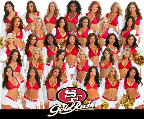 San francisco 49ers cheerleaders Golden rush