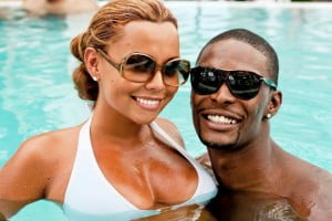 chris bosh wif adrienne williams bosh