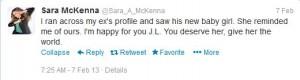sara McKenna bode Miller baby mama twitter