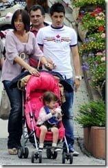 David Villa Family-wife