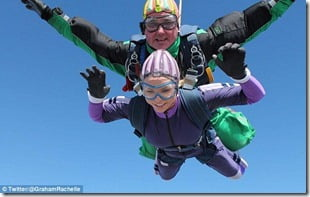 Graham skydiving charity mission