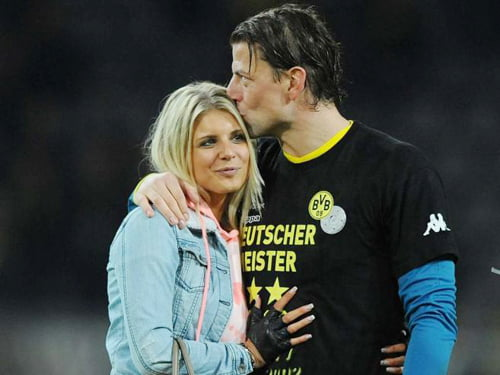 Roman Weidenfeller with beautiful, Girlfriend Lisa Rossenbach