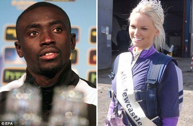 Miss Newcastle Rachelle Graham- Newcastle United striker Papiss Cisse's White Girlfriend