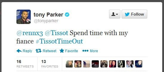 Tony Parker Twitter engagement