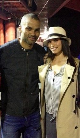 Tony Parker fiancee Axelle Francine pic