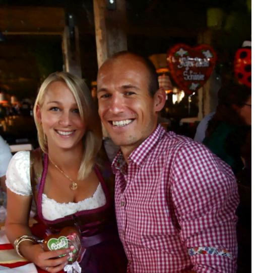 Bernadien Eillert- Robben is Arjen Robben's Wife