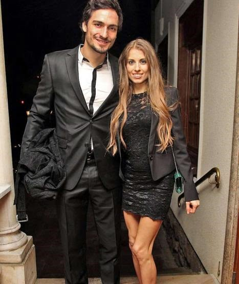 Mats Hummels with beautiful, sexy, Girlfriend Cathy Fischer
