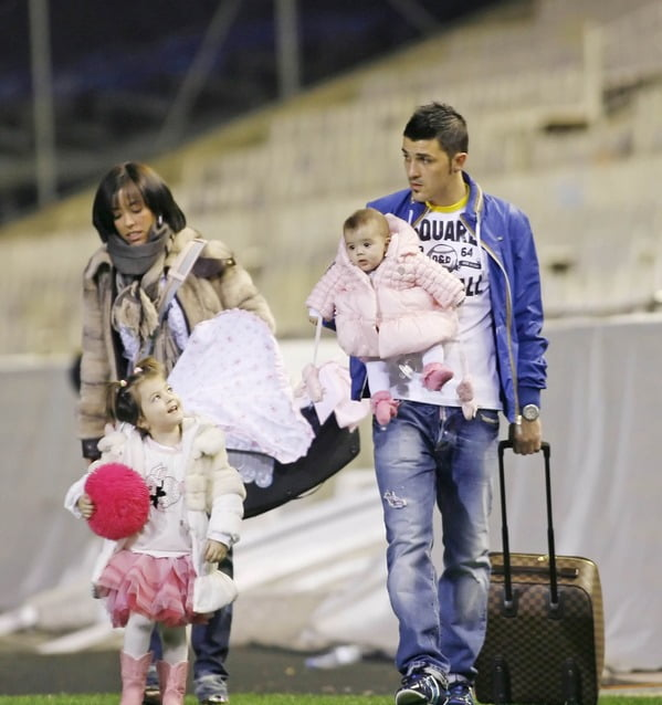 Photo of David Villa & his  Daughter  Olaya Villa González