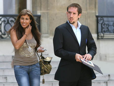 Franck Ribéry with beautiful, Wife Wahiba Ribéry