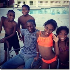 Floyd Mayweather Jr Josie Harris children pic