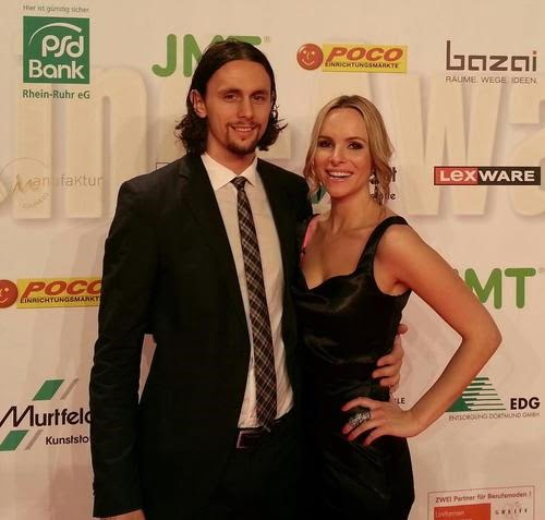 Neven Subotić with cool, beautiful, Girlfriend Isabel Dechert