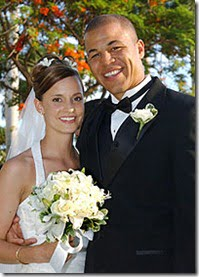 Kara and Jarome Iginla wedding