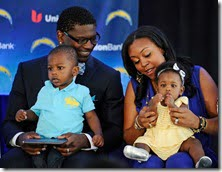 LaTorsha Oakley and LaDainian Tomlinson children