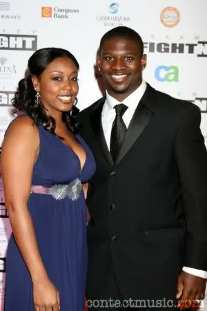 LaDanian Tomlinson with beautiful, Wife LaTorsha Oakley