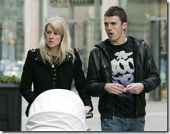 Michael Carrick and Lisa Roughead baby