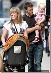 Michael Carrick and Lisa Roughead daughter