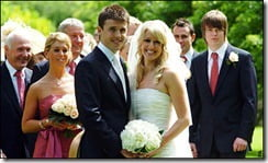 Michael Carrick and Lisa Roughead wedding