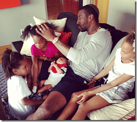 Amare Stoudemire Alexis Welch children pic