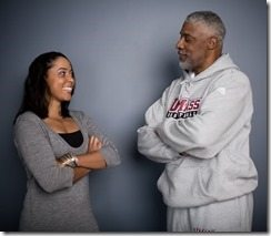 Julius Erving daughter Alexandra Stevenson pic