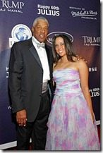 Julius Erving daughter Alexandra Stevenson pics