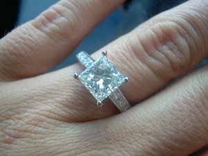 Leah Neal engagement ring