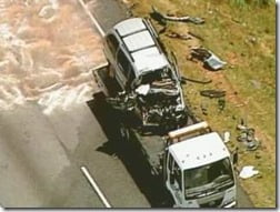 Mookie Blaylock Monica Murphy car crash photo