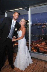 spurs Gary Neal Leah Wheeler wedding pic