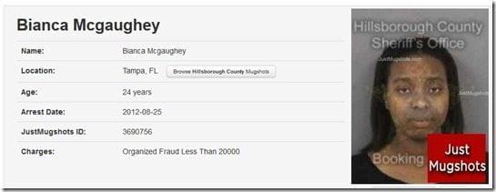 Bianca Mcgaughey mugshot
