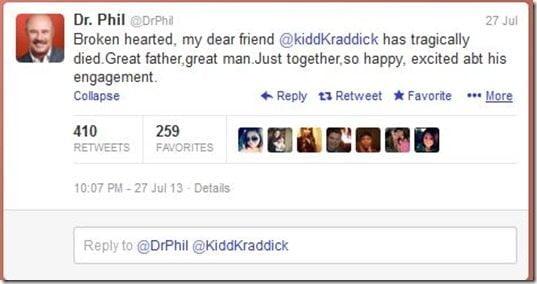 Dr. Phill Kidd Kraddick fiancee engagement
