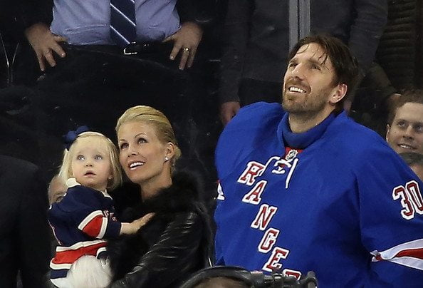 Photo of Henrik Lundqvist & his  Son  Charlise Lundqvist