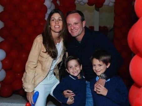 Family photo of the driver, married to Silvana Giaffone Barrichello, famous for Williams F1 Team & Scuderia Ferrari Marlboro.