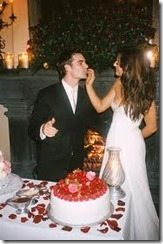 Jeff Gordon Ingrid Vandebosch wedding photo