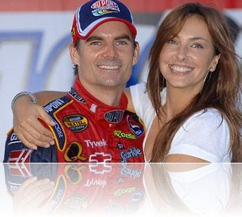 Jeff Gordon wife Ingrid Vandebosch Gordon