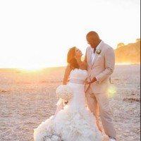 Keyshawn Johnson Jennifer Conrad Wedding Pic 200x200