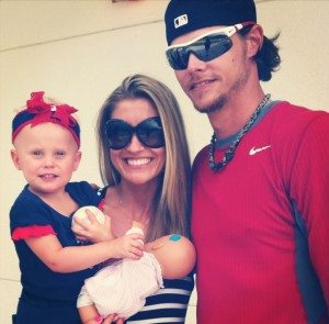 Lindsay Clubine Buchholz Clay Buchholz  daughter pic