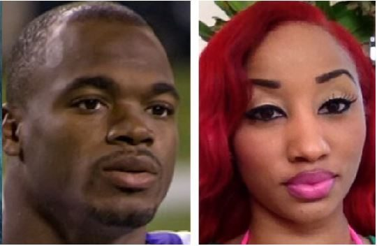 adrian peterson baby mama erica syion