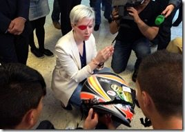 maria de Villota helmet after crash