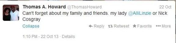 Thomas Howard girlfriend Alli Linzie pic