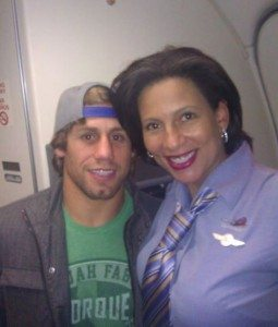 urijah faber and stewardess pic