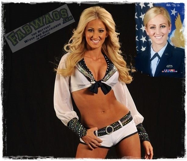 Alicia Quaco- Seahawks Sea Gal and U.S. Air Force First Lieutenant
