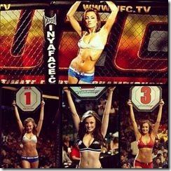 Amber Nichole UFC octagon girl