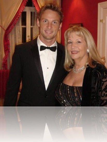 Jenson Button mother Simone Lyons