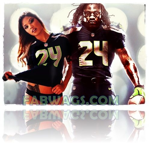 Marshawn Lynch girlfriend Ccharmaine Glock