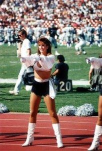 Paige Green Elway Raiders cheerleader