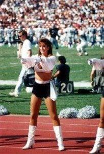 Paige Green Elway Raiders cheerleader